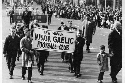 St Patrick's Day Parade New-Haven-Football-1964